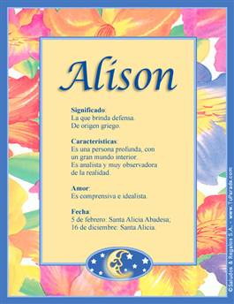 Nombre Alison