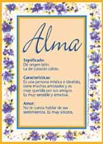 Nombre Alma