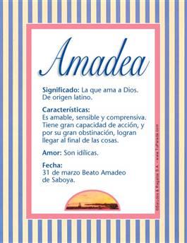 Nombre Amadea