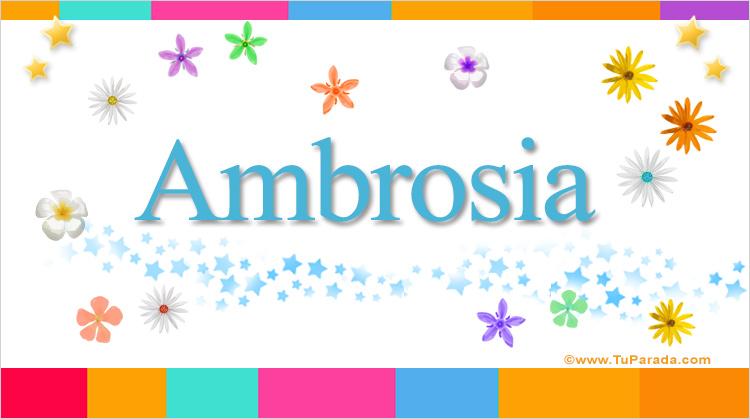 Ambrosia, imagen de Ambrosia