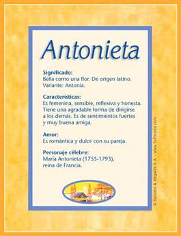 Nombre Antonieta