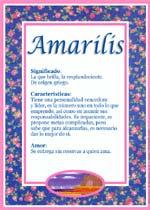Nombre Amarilis
