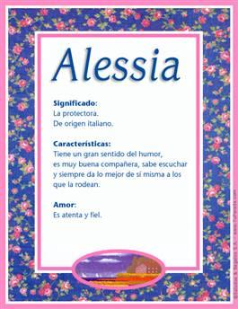 Nombre Alessia