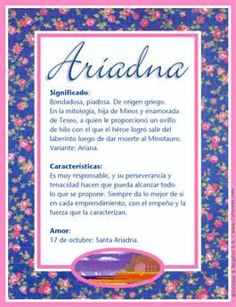 Nombre Ariadna