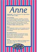 Nombre Anne