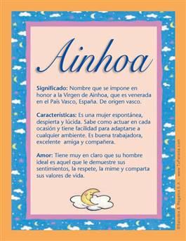 Nombre Ainhoa