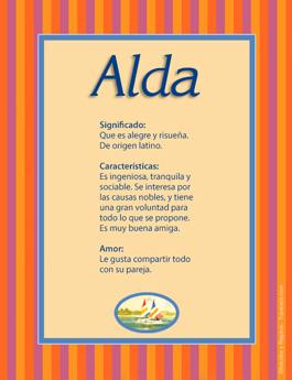 Nombre Alda