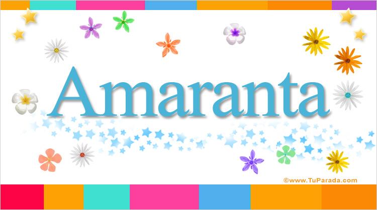 Amaranta, imagen de Amaranta
