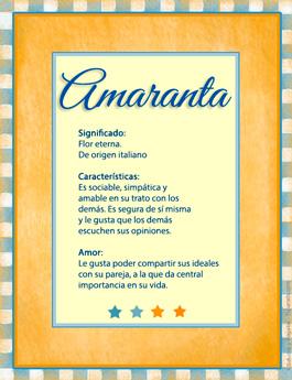 Nombre Amaranta