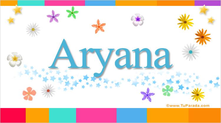 Aryana, imagen de Aryana