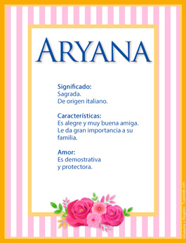 Nombre Aryana