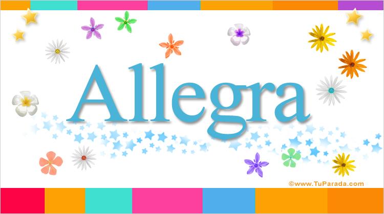 Allegra, imagen de Allegra