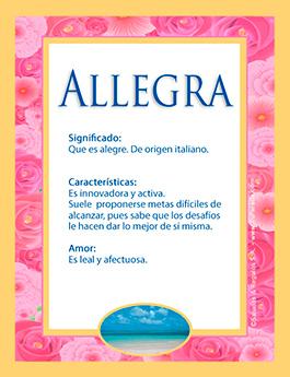 Nombre Allegra