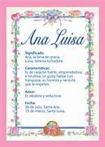 Nombre Ana Luisa