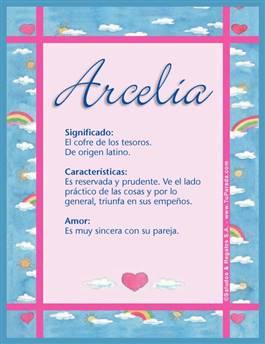 Nombre Arcelia