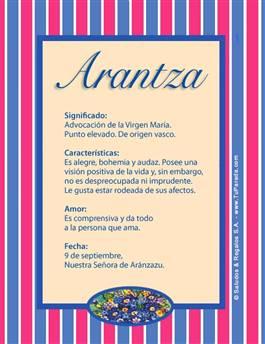 Nombre Arantza