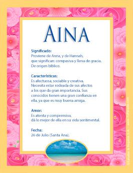Nombre Aina