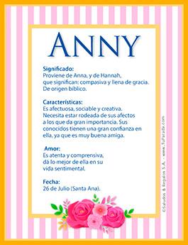 Nombre Anny