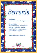 Nombre Bernarda