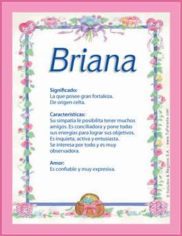 Nombre Briana