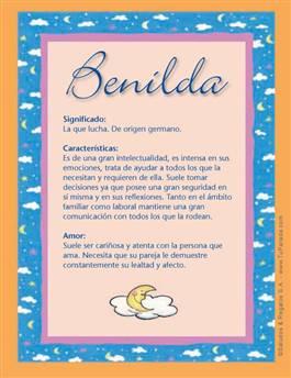 Nombre Benilda