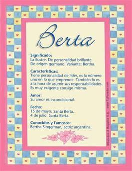 Nombre Berta