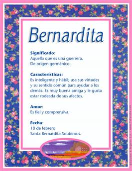 Nombre Bernardita