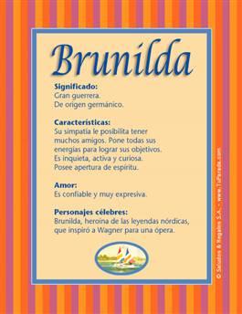 Nombre Brunilda