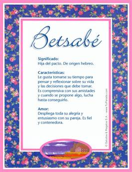 Nombre Betsabé