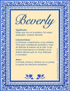 Nombre Beverly