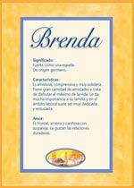 Nombre Brenda