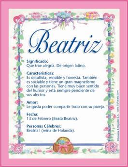 Nombre Beatriz