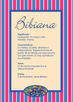 Nombre Bibiana