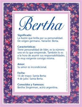 Nombre Bertha