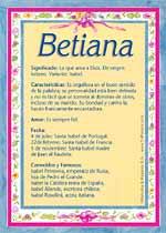 Nombre Betiana