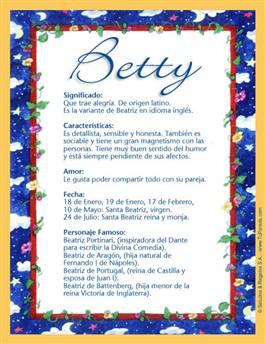 Nombre Betty