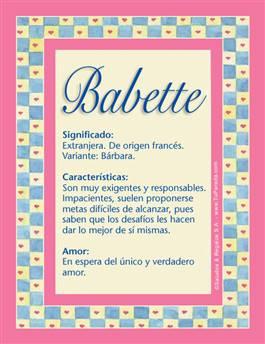 Nombre Babette
