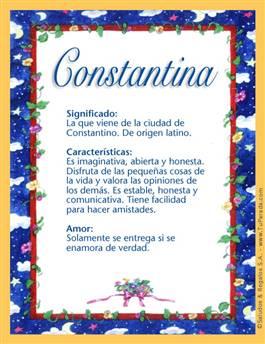 Nombre Constantina