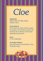 Nombre Cloe