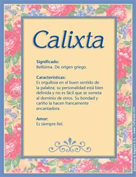 Nombre Calixta