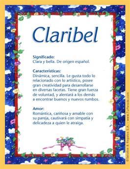 Nombre Claribel