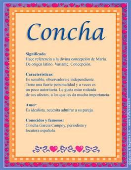 Nombre Concha