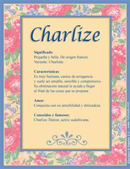 Nombre Charlize