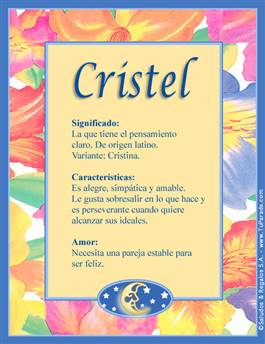 Nombre Cristel