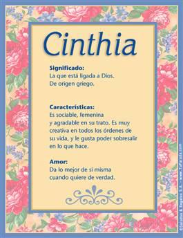 Nombre Cinthia