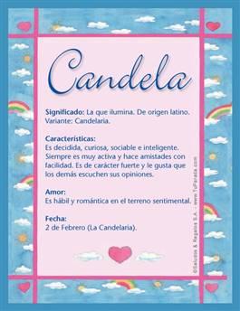 Nombre Candela