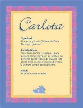 Nombre Carlota