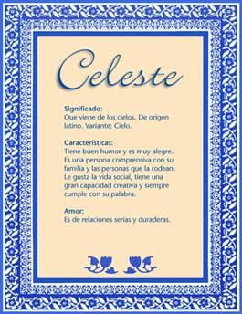 Nombre Celeste