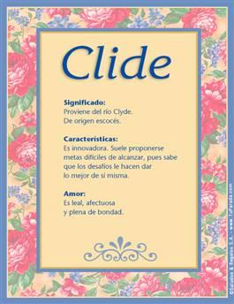Nombre Clide