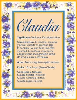 Nombre Claudia
